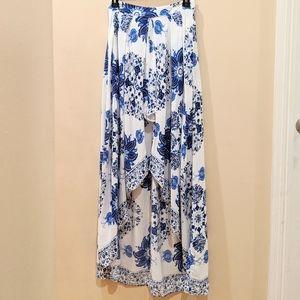 Fashion Nova high waist high low skirt